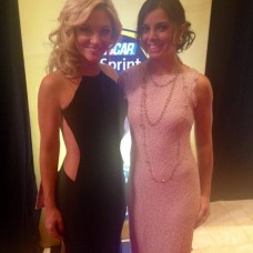 With Danielle Trotta at the 2014 NASCAR Awards