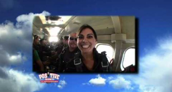 Michelle Goes Skydiving